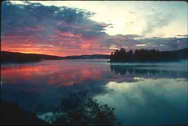 Bear River Casino >> A beutiful sunset in Sullivan Bay
